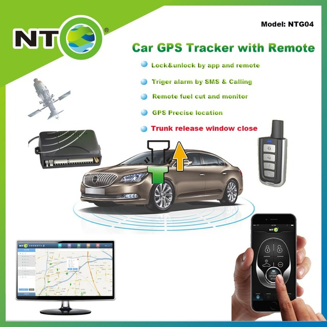 NTG04 Wholesale 1pcs Gps Tracker With Truck Release Gps Gsm Tracker App Door  Lock And Unlock