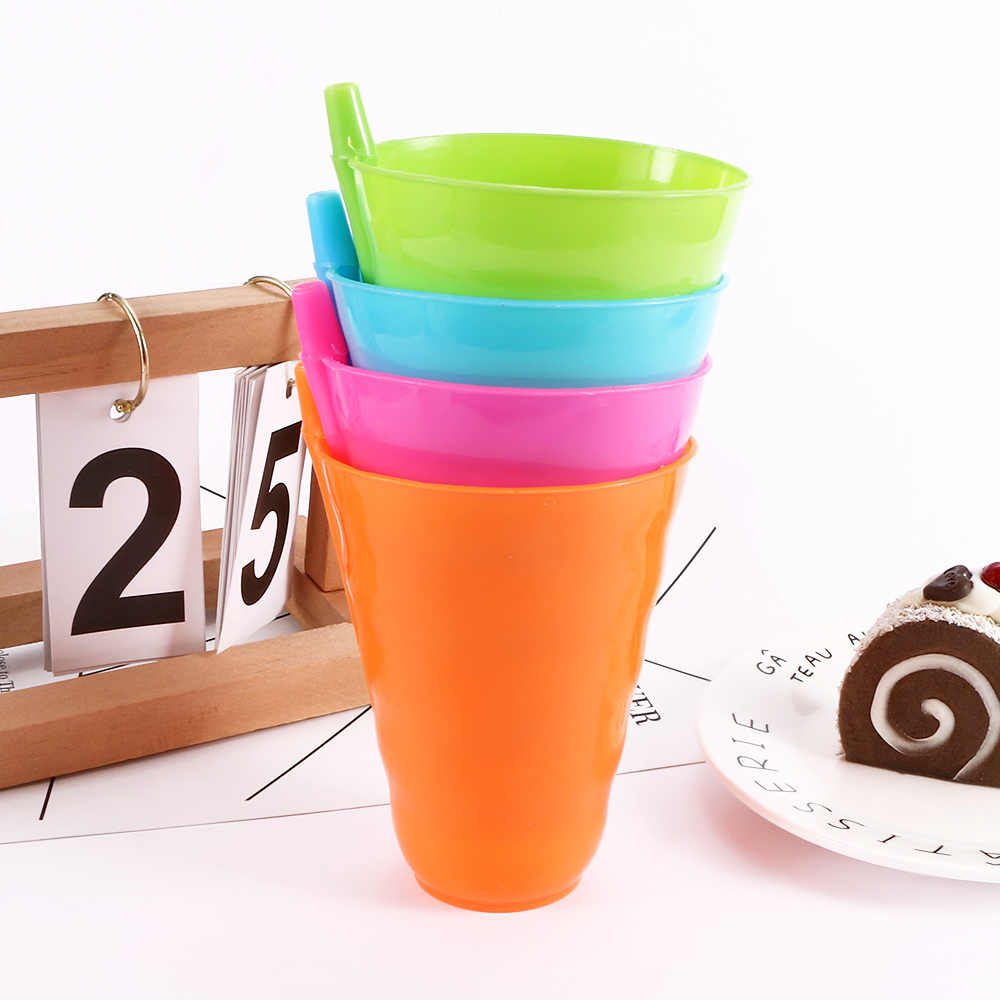 a16a1ddfae7 ... Kids Creative Plastic Straw Cups Children Baby Sip Cup with Built in  Straw Mug Cold Drink ...