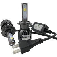 DarkAway 3 Colors H7 H8 H9 H11 9005 9006 H27 H1 H3 H4 LED Bulbs 60W 8000lm Mini Car Headlight Auto Far Low Fog Light Yellow 12V