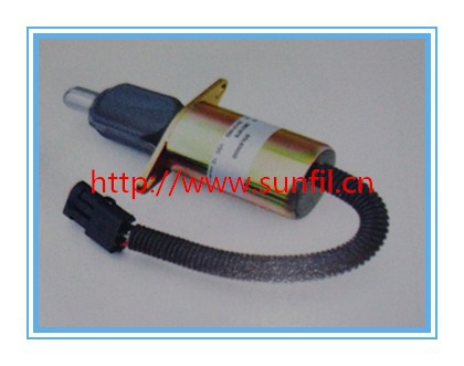 Fuel shutdown solenoid 3921978 shut off solenoid 6CT/6CTA , 24V, 2PCS/LOT+fast free shipping 2pcs fast shipping 100