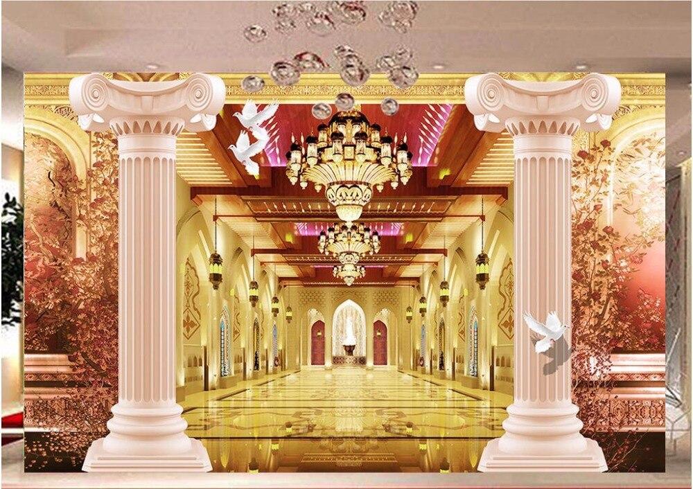 Magnificent Wall Pillars Decoration Festooning - Wall Art Ideas ...