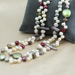 Image 5 - פרל תכשיטים, ארוך אמיתי טבעי מים מתוקים פרל שרשרת חתונה נשים, אמא פרל שרשרת 190cm 200cm ילדה קבצי gif