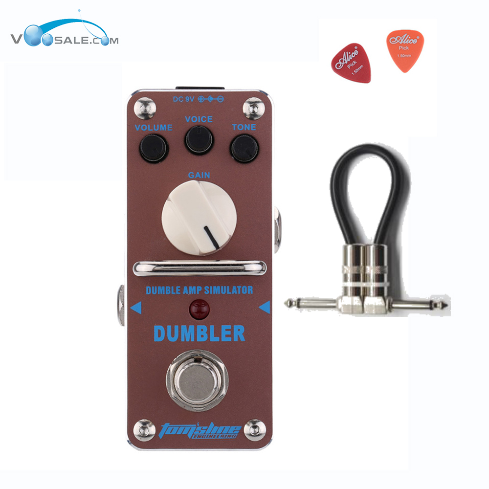 Aroma ADR-3 Dumbler Amp Simulator Guitar Effect Pedal Mini Single Pedals with True Bypass Aluminium Alloy Guitar+ Free Cable amo 3 mario bit crusher electric guitar effect pedal aroma mini digital pedals full metal shell with true bypass