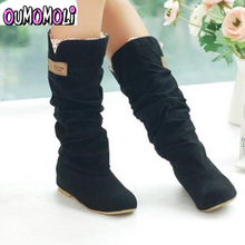 2019 new fashion Spring Autumn casual Flat boots princess sweet women