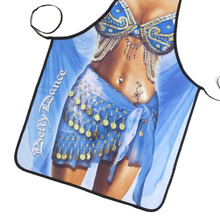 New Novelty Cooking Kitchen Belly Dancing Woman Sexy Apron Baking Present Pinafore Chef Funny cute kitchen aprons