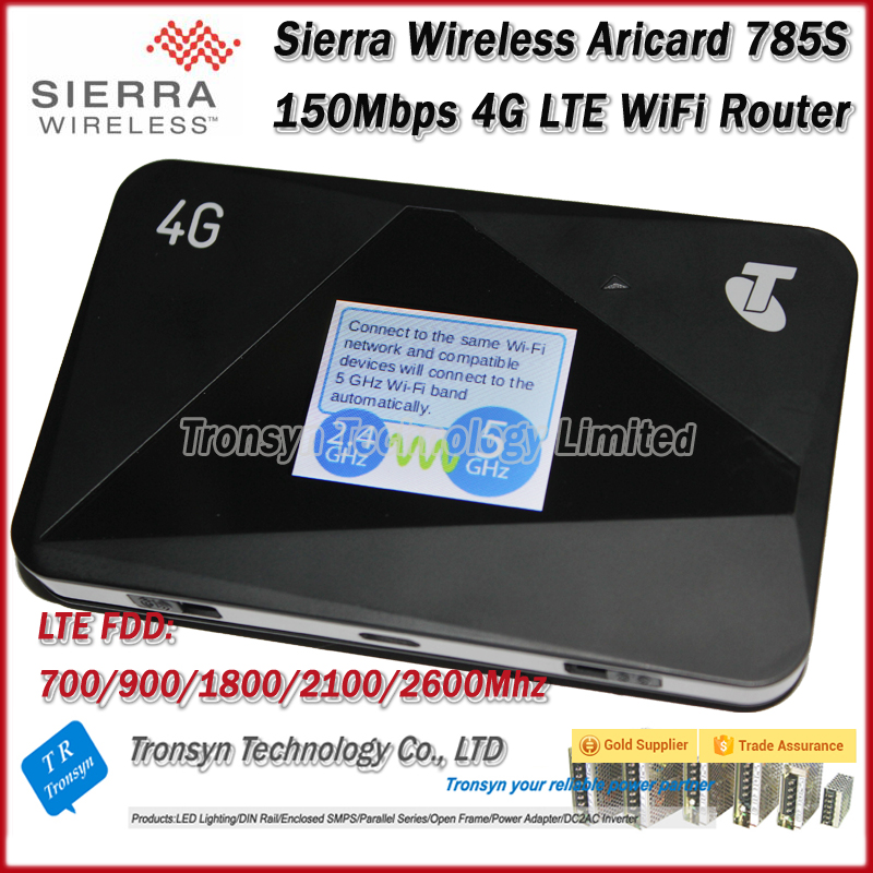 цена на Wholesale Original Unlock 150Mbps Sierra Wireless Aircard 785S Portable 4G LTE Mobile Hotspot And 4G LTE WiFi Router