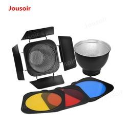 Standardowy reflektor abażur siatki o strukturze plastra miodu akcesoria stodoła drzwi danie o strukturze plastra miodu pokrywa filtr zestaw kolorów CD50 T06