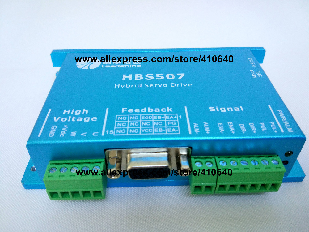 HBS507  equal to:ES-D508 old model HBS57 Closed Loop Stepper Drive Max 50 VDC Input Voltage and 8.0A   Current  Leadshine hot sale leadshine acs606 dc input brushless servo drive with 18 to 60 vdc input voltage and 6a continuous 18a current