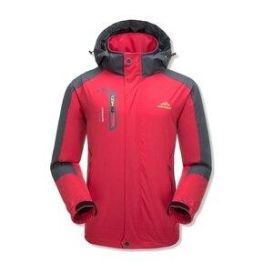 Image 3 - Jaqueta masculina à prova dágua com capuz, casaco esportivo quente e macio com capuz, para outono e inverno, blusão casual para homens, com zíper