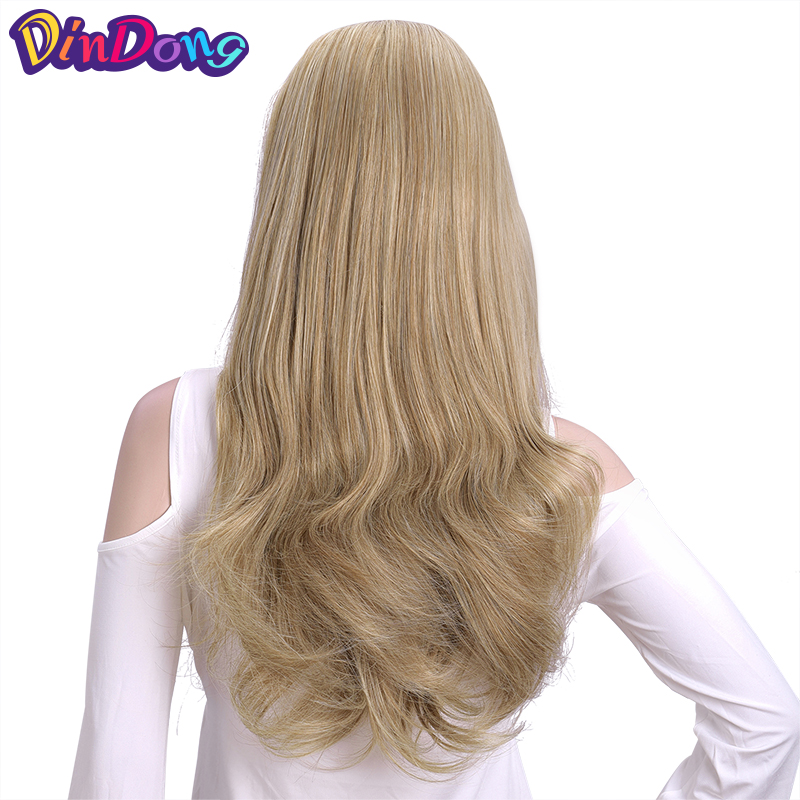 Hot Sale Dindong Clip In Hair Extensions Synthetic Wavy 34 Half