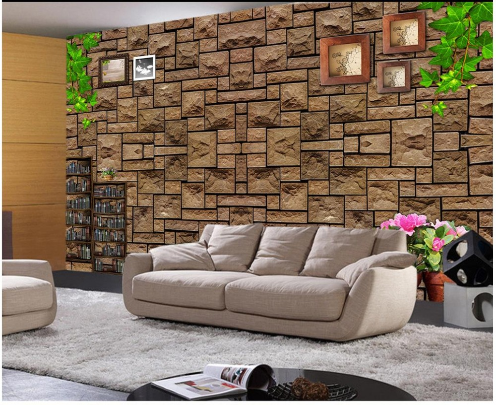 wände stein-kaufen billigwände stein partien aus china ... - Fototapete Wohnzimmer Braun