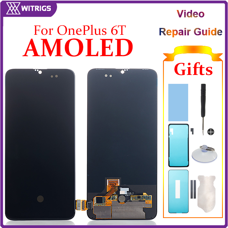US $119 99 |Witrigs For OnePlus 6T LCD Display Touch Screen Digitizer  Assembly Replacement For OnePlus 6 T LCD display-in Mobile Phone LCD  Screens