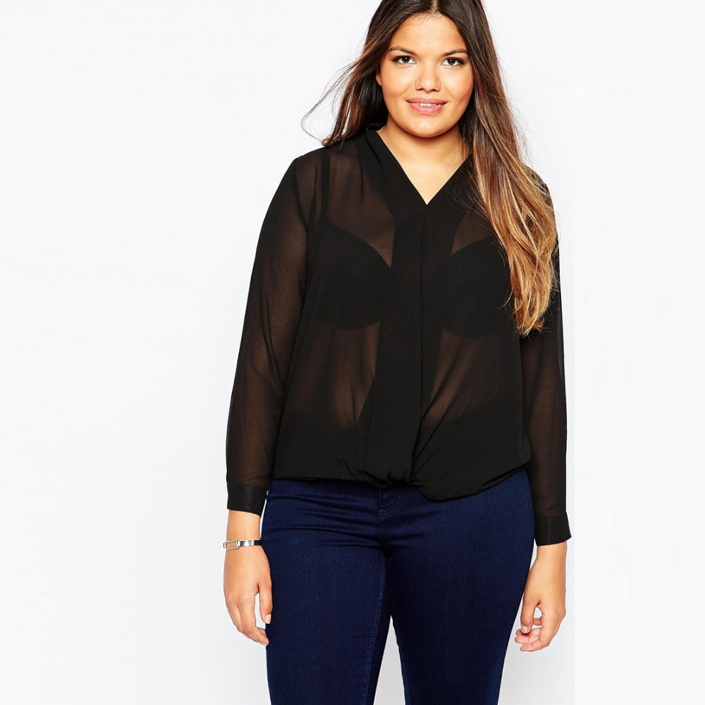 Popular Black Blouses for Work-Buy Cheap Black Blouses for Work ...
