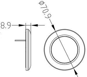 Image 3 - Светодиодный светильник 12 В для морской лодки, яхты, домов на колесах, корпус из нержавеющей стали, белый, синий, купольный светильник, внутренняя лампа