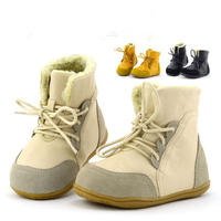 Children S Genuine Leather Boots New Winter Boys Snow Boots Kids Shoes For Girl Soft Outsole