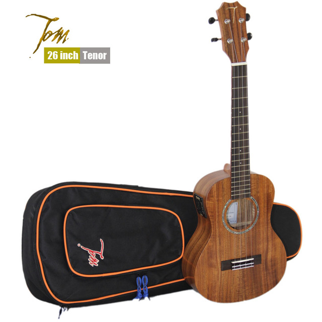 Cheap TOM TUT-730 26 inch Tenor Ukulele with EQ and Ukulele Bag, Aquila Strings