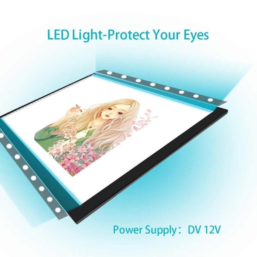 19 pulgadas/A3 tamaño tablero de dibujo dirigido caja de luz ...