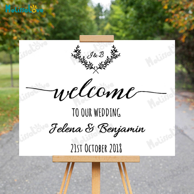 Custom Welcome To Our Wedding Personalized Name And Date Initial ...