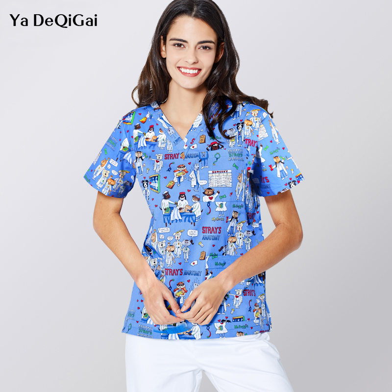 Business & Industrial Independent Medical Scrub Men Women Top Tunic Uniform Nurse Hospital Tops Medical Vest 2019 New Fashion Style Online