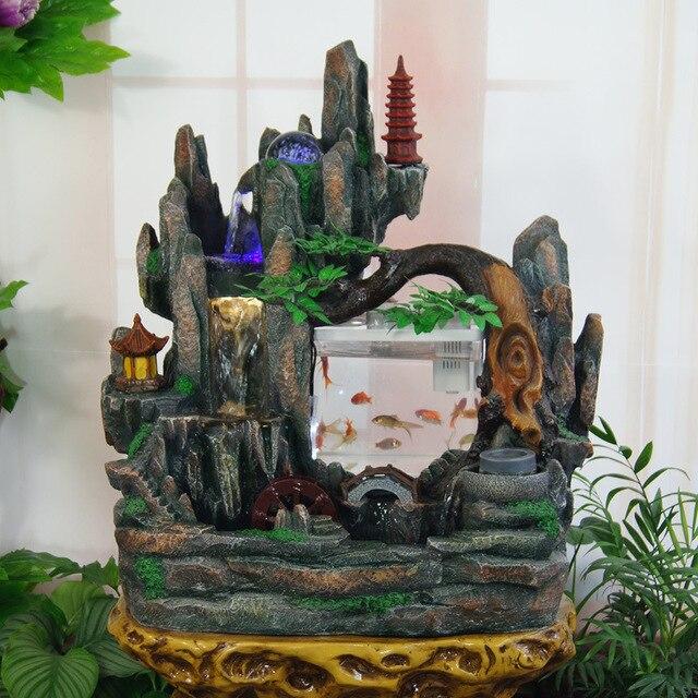 Fuentes de agua de interior efecto de piedra con batera for Fuentes decorativas interior