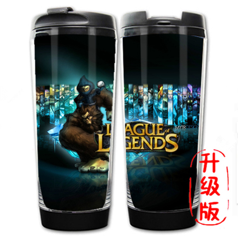HOT SALE League of legends Hero LOL 19 Models Double Insulation Plastic and Stainless Steel Mug