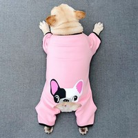 Pets Dogs Products Apparel Supplies Winter Thick Warm Onesies French Bulldogs Pugs Small Puppy Jumpsuits