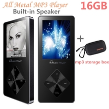 MP3 Music Player 16GB Built-in Speaker with FM Radio,Voice Recorder, High Quality Walkman + a Suitable MP3 Player Case/Cover