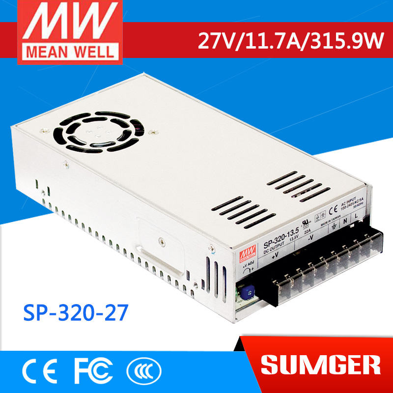ФОТО [NC-B] MEAN WELL original SP-320-27 27V 11.7A meanwell SP-320 27V 315.9W Single Output with PFC Function Power Supply