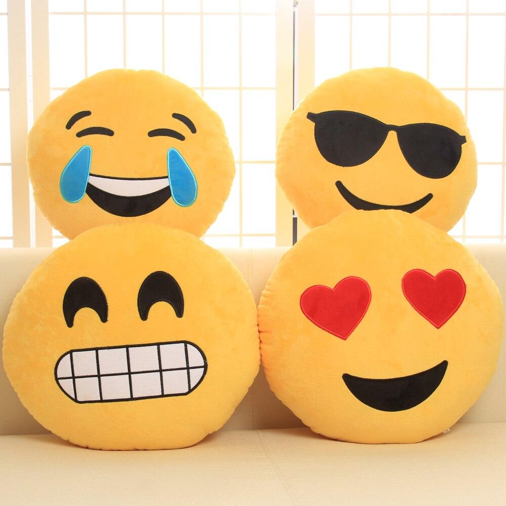 Cute Face Pillow Nap Cushion Emoji Funny Doll Plush Toys