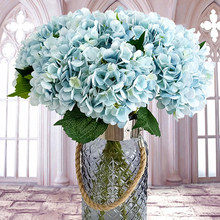 Artificial Flowers Silk Hydrangea Head Ball Chrysanthemum Fake Flower Bouquet Party Wedding Path Home Garden Decoration PO3#(China)