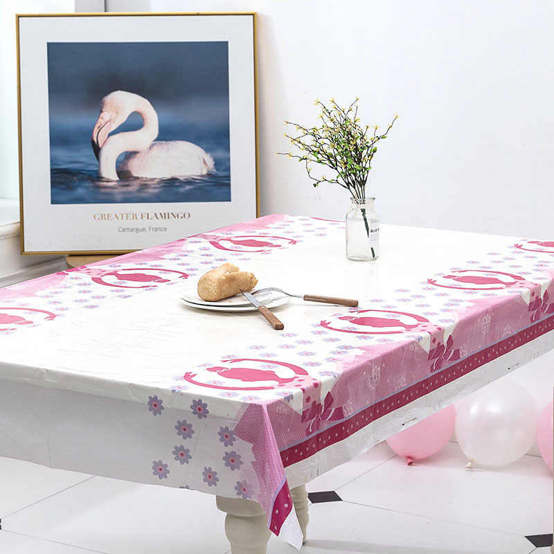 Cartoon Mermaid/Unicorn/Minnie PE Waterproof Tablecloth for Kids Happy Birthday Party Decoration Tablecover Event Party Supplies