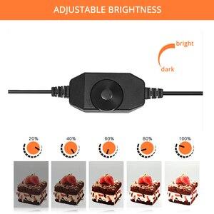 Image 3 - Travor Fotografie Studio leuchtkasten 60 cm 48W foto licht zelt Tabletop Schießen SoftBox mit 3 farben hintergrund Foto box