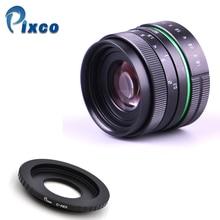 50mm F1.8 C 마운트 카메라 용 APS-C 텔레비전 TV 렌즈 Sony nex / nikon1 / canon M / pentax Q / Fuji / M4 / 3 카메라 용 카메라 + 어댑터