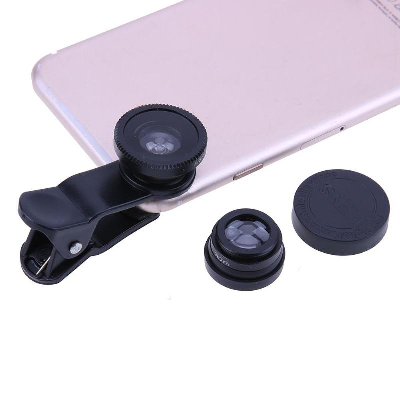 3-in-1 Universal Mobile Phone Camera Lens Kit With Clip For All Smartphones 17