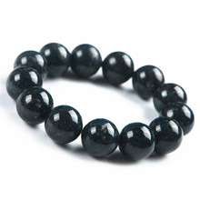 13.5mm Blue Natural Pietersite Gemstone Crystal Stretch Powerful Round Bead Bracelet For Women Men