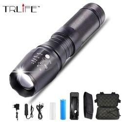 8000 lúmen brilho led lanterna iluminação exterior led tocha zoomable 5 modos usados para a caça de acampamento aventura noite passeios, etc.