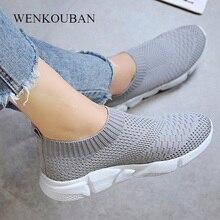 Fashion Sneakers Women Trainers Casual Slip On Socks