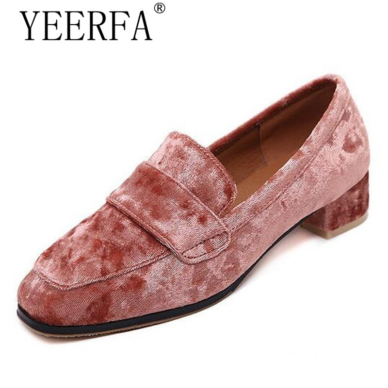 YIERFA Spring autumn British Style loafers Casual Velvet Shoes Woman 2017 Slip On Flats Oxfords Platform Women Shoes Size 35-40 jingkubu 2017 autumn winter women ballet flats simple sewing warm fur comfort cotton shoes woman loafers slip on size 35 40 w329