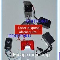 Laser warning kit. Escape from the laser array Live secret room escape game Laser disposal alarm set