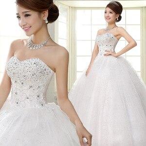 Image 3 - Costomize real foto vestido de casamento 2016 estilo coreano vestido de noiva vestido de noiva de lantejoulas de comprimento do chão vestido de noiva