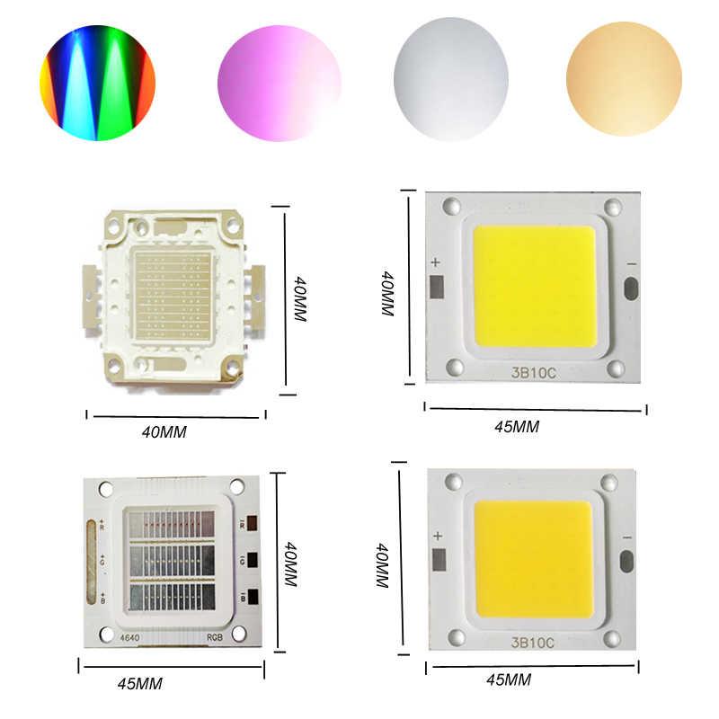 Прожектор УФ/RGB интегрированный в COB лампа люстра из бисера лампа холодный белый/теплый белый для DIY 30 Вт высокой мощности светодиодный чип