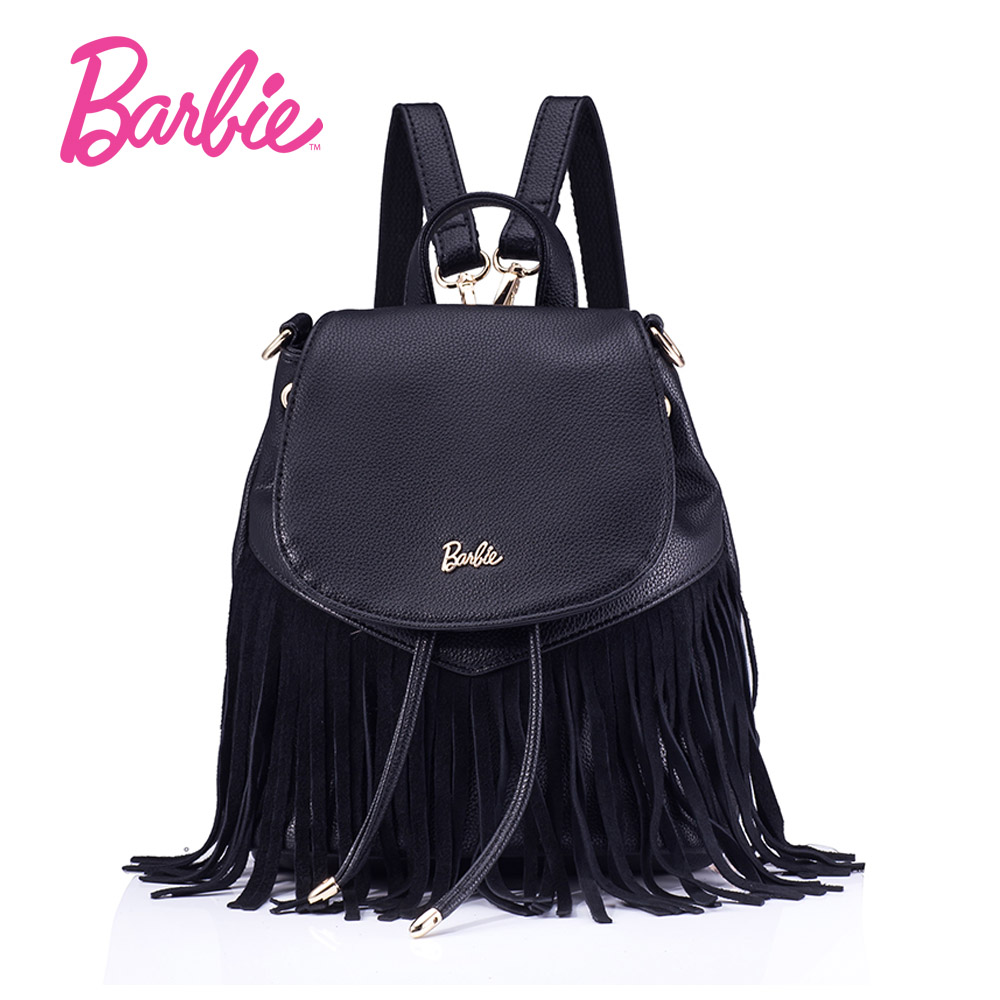 2017 Barbie Women Bags New Summer tassel girls backpack Bags Small Fashion bag Trend Brief Shoulder
