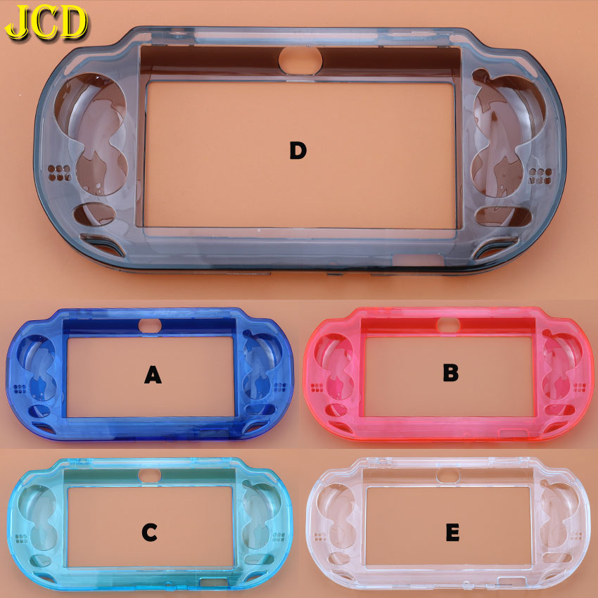 JCD 1pcs Crystal Hard Case Cover For <font><b>Sony</b></font> PSV <font><b>1000</b></font> Protective Skin For <font><b>PS</b></font> <font><b>Vita</b></font> PSVita <font><b>1000</b></font> Gamepad image