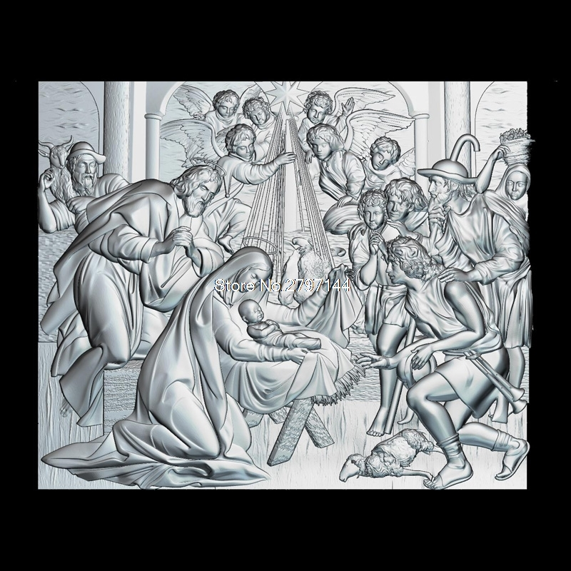 The birth of Jesus Christ 3d model for cnc STL format Religion 3d Relief Model STL Router 3 axis Engraver ArtCam martyrs faith hope and love and their mother sophia 3d model relief figure stl format religion for cnc in stl file format