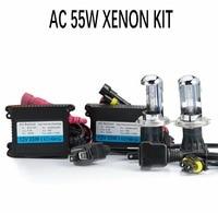 12V 55W HID Xenon Kit car healdight fog light H1,H3,H7,H11,HB3,HB4,880,H27,D2S,D2H,9012,H4 Bi xenon slim ballast,4300K,6000K