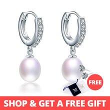 5d4ad29a8138 HENGSHENG joyería Genuina de la perla pendientes de perlas naturales  cultivadas perlas de agua dulce