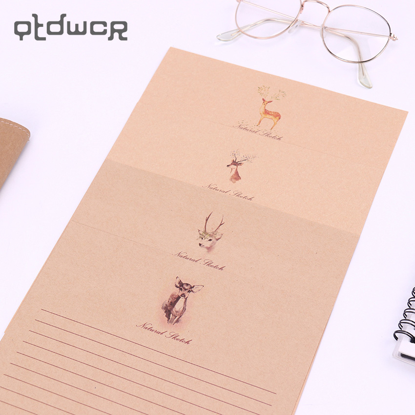 10 Sheet/Set Vintage Letter Paper Cardstock Stationary Paper Cartoon Animals Style Writing Letter Pad School Office Supply