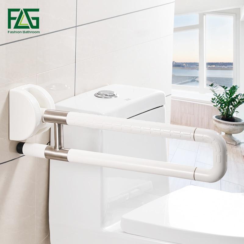 FLG Stainless Steel Folding Grab Bar Rail Support Handle Bar Bathroom Railing Anti Slip High Quality Toilet Safety Rails G205-27