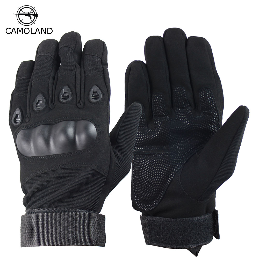 CAMOLAND Military Tactical Gloves Outdoor Sports Motorcycle Full Finger Gloves Combat Paintball Shooting Men Fighting Mittens