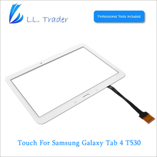 LL TRADER 100% Guarantee White For Samsung Galaxy Tab 4 SMT530 10.1 Touch Screen Panel Glass Replacement Digitizer Free Shipping